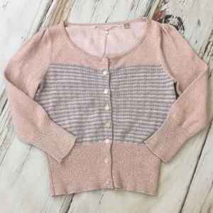 Anthro Knitted Knotted Diamond Dust Cardigan Small